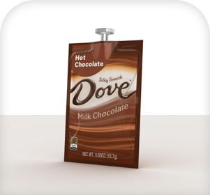Single Serve Flavia freshpacks from Dove Hot chocolate