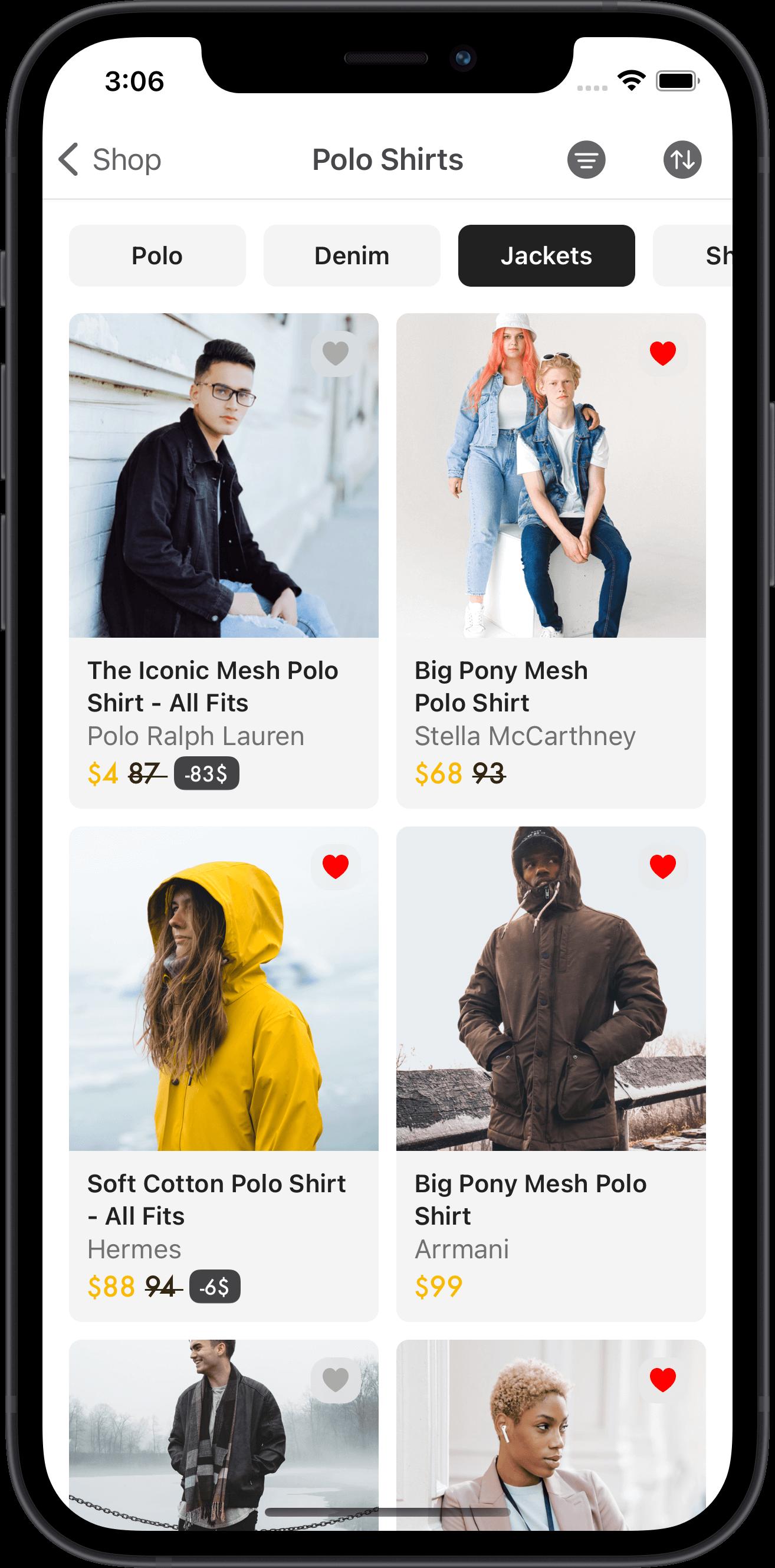 e-commerce, products, men, women, jacket
