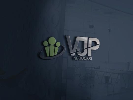 vjp logo mockup of glass window
