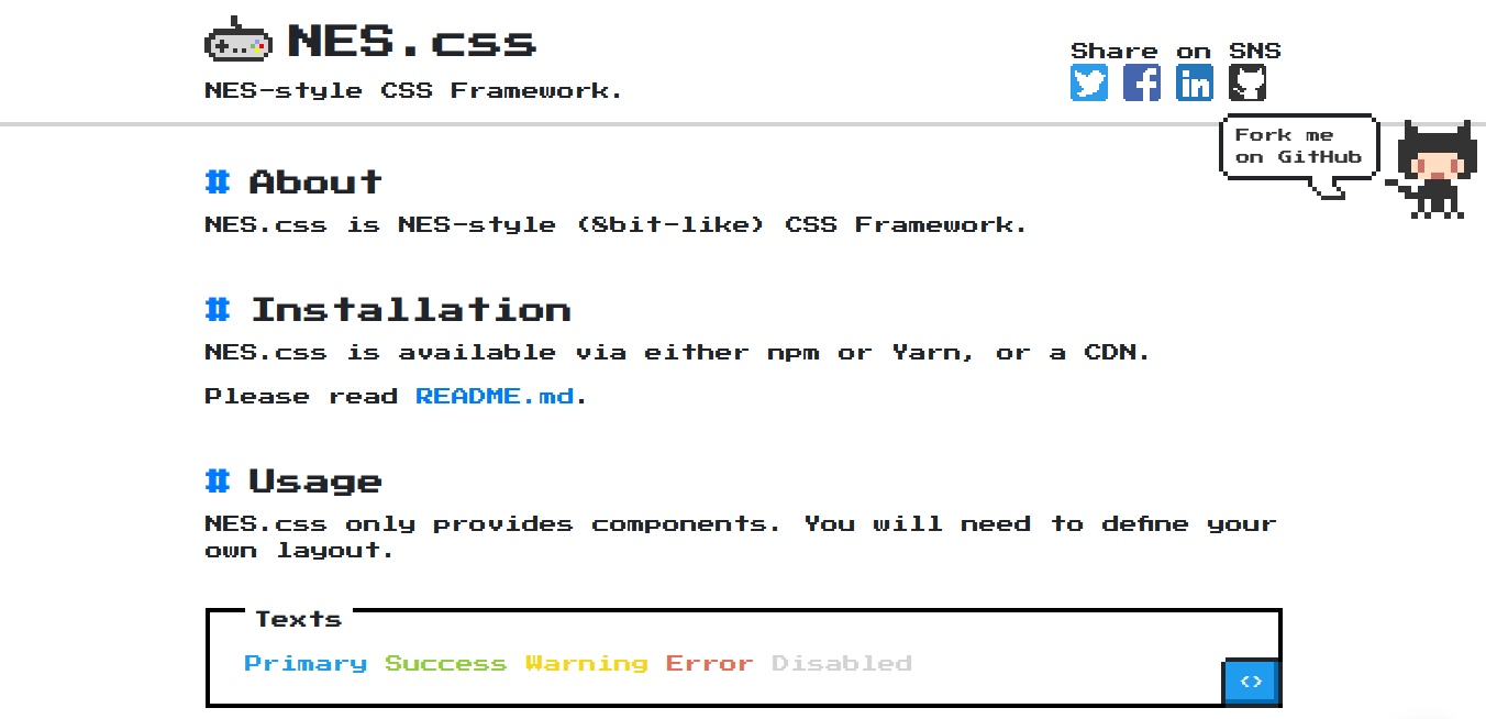 NES CSS Framework