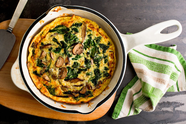 Healthy Recipe, Mushroom and Spinach Frittata