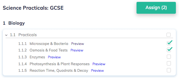 Assignments for Biology Practicals A Level AQA
