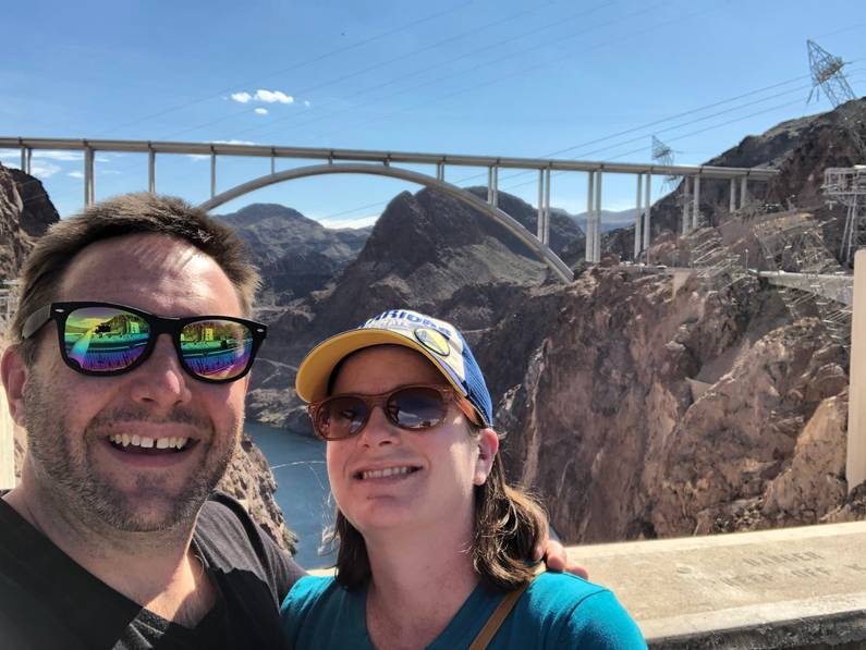 Tracy and Ian on Hoover Dam