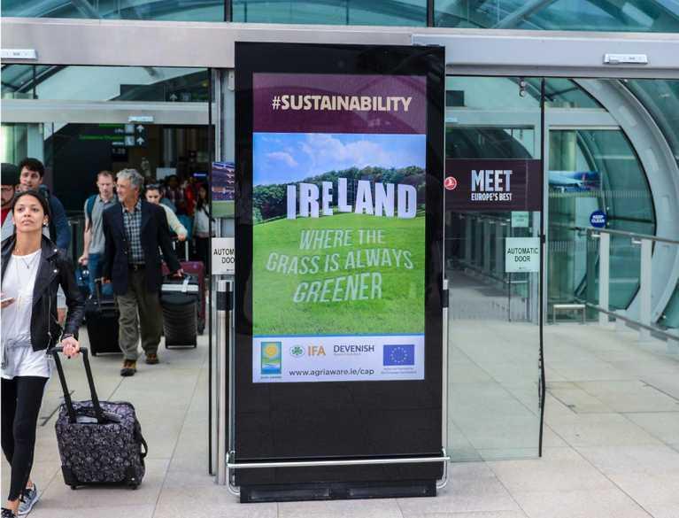 agri aware digital advertisement in airport