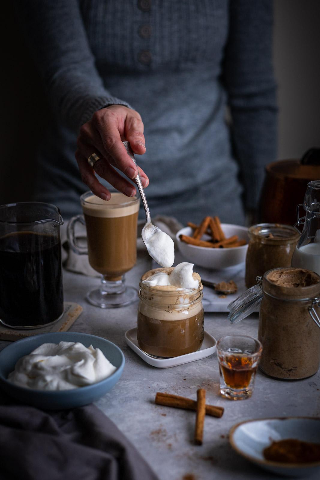 Hot Buttered Rum Latte