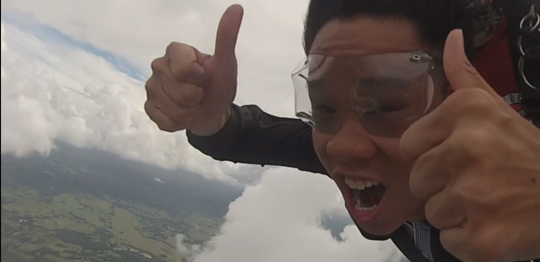 """<i>Skydiving experience - Above the clouds</i>"""