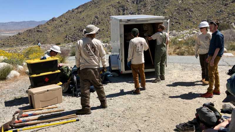 Trail maintenance crew