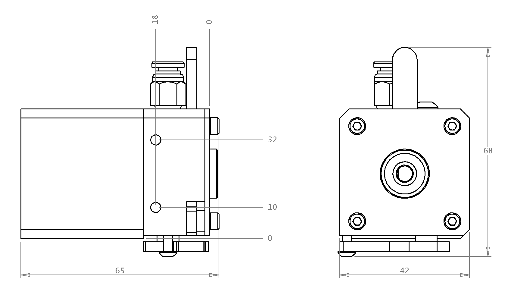 DyzeXtruder Drawings