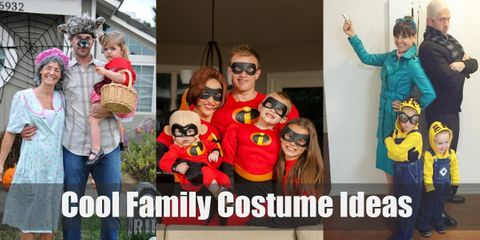 Get inspired with fun & unique family themed halloween costume ideas!