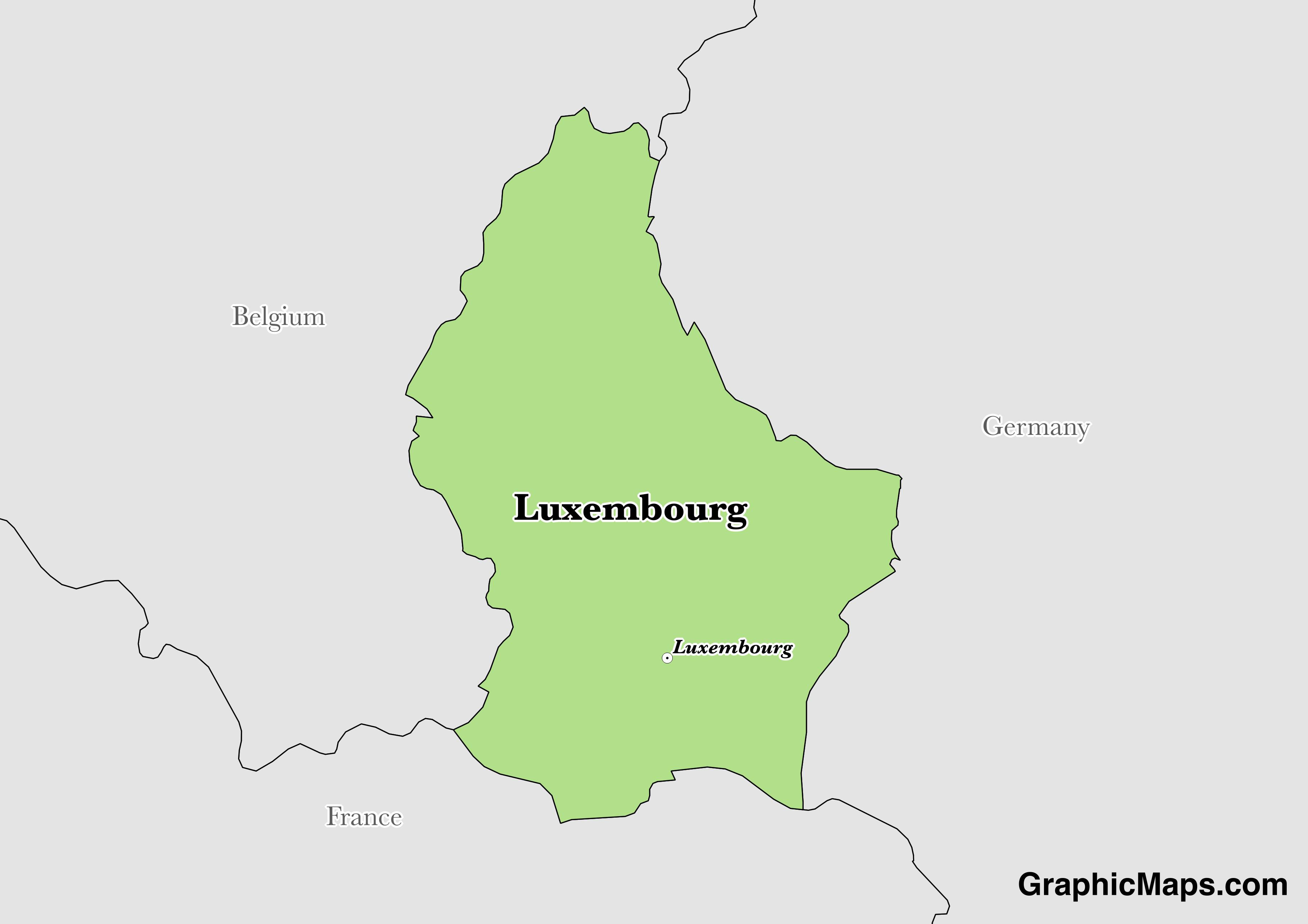 Luxembourg GraphicMapscom - Luxembourg map