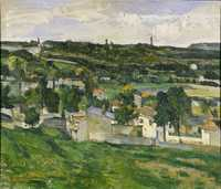 Painting of View of Auvers-sur-Oise by Paul Cézanne, between circa 1879 and circa 1880, Ashmolean Museum (stolen on Dec 31 1999)
