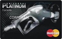 Universal platinum canada mastercard card