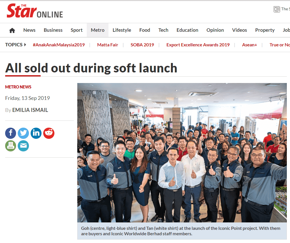 19sep13 the star all sold out during soft launch