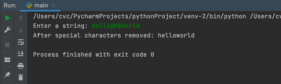 python remove special characters from string