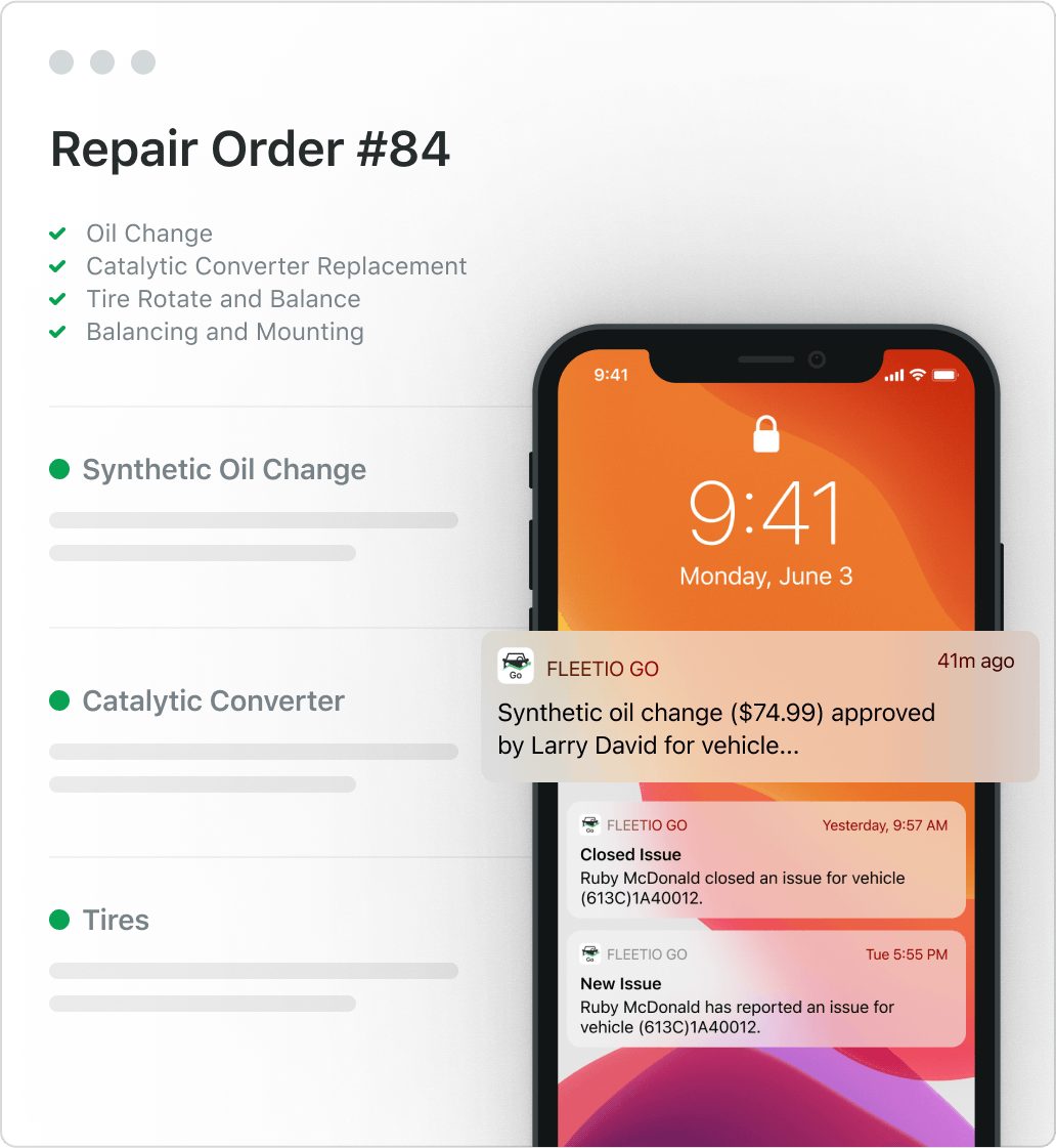 Msi repair order