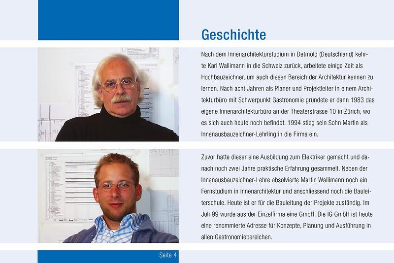 Business-Broschüre Geschichte