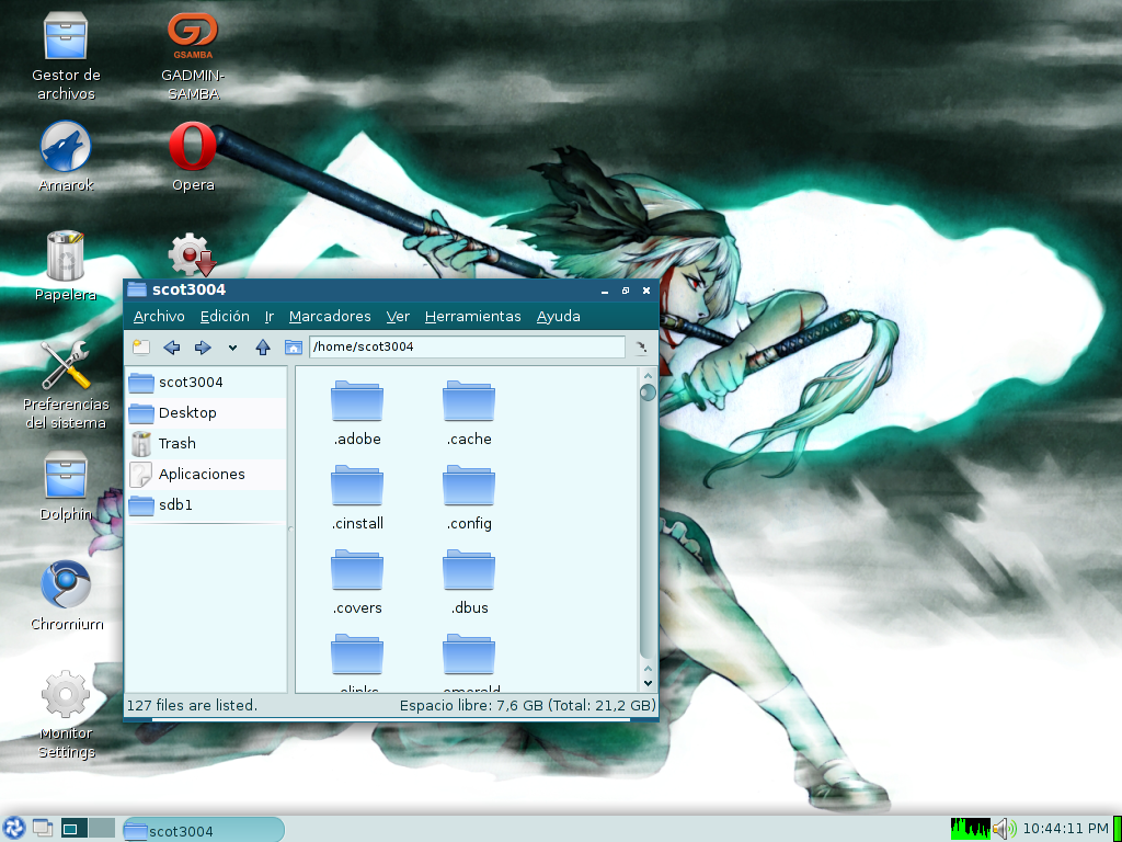 Lxde + Openbox + KnetworkManager + repos de arch