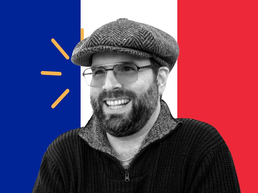 Translator named Silvan and French flag