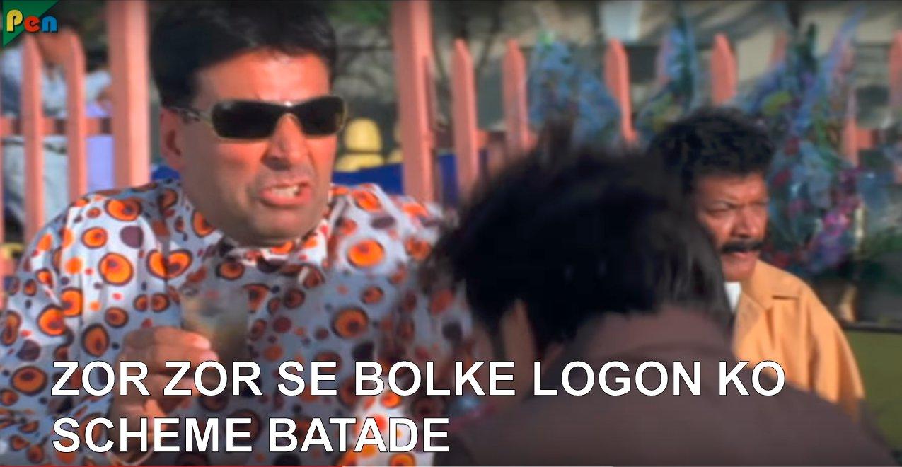 Akshay Kumar Phir Hera Pheri Zor Zor Se Bolke Logon Ko Scheme Batade