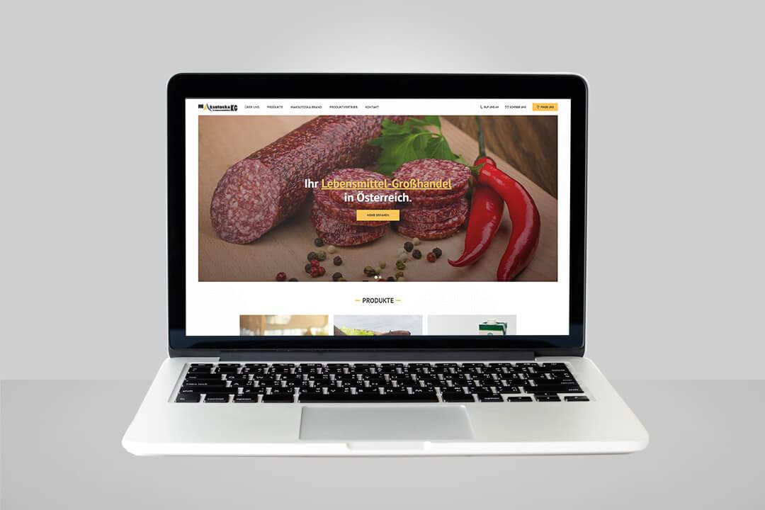 Project Maksutoska Lebensmittel - Food delivery, Website Design, Programming