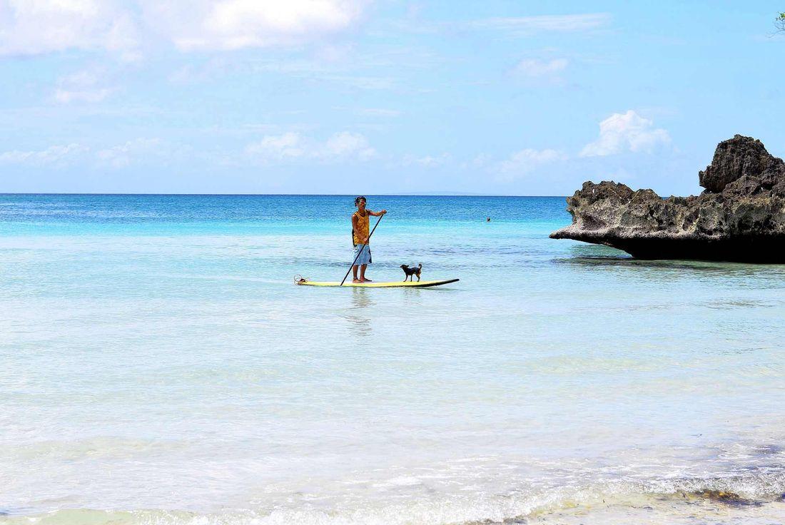 Paddleboarding Tahiti