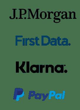 JP Morgan, First Data, Klarna, PayPal