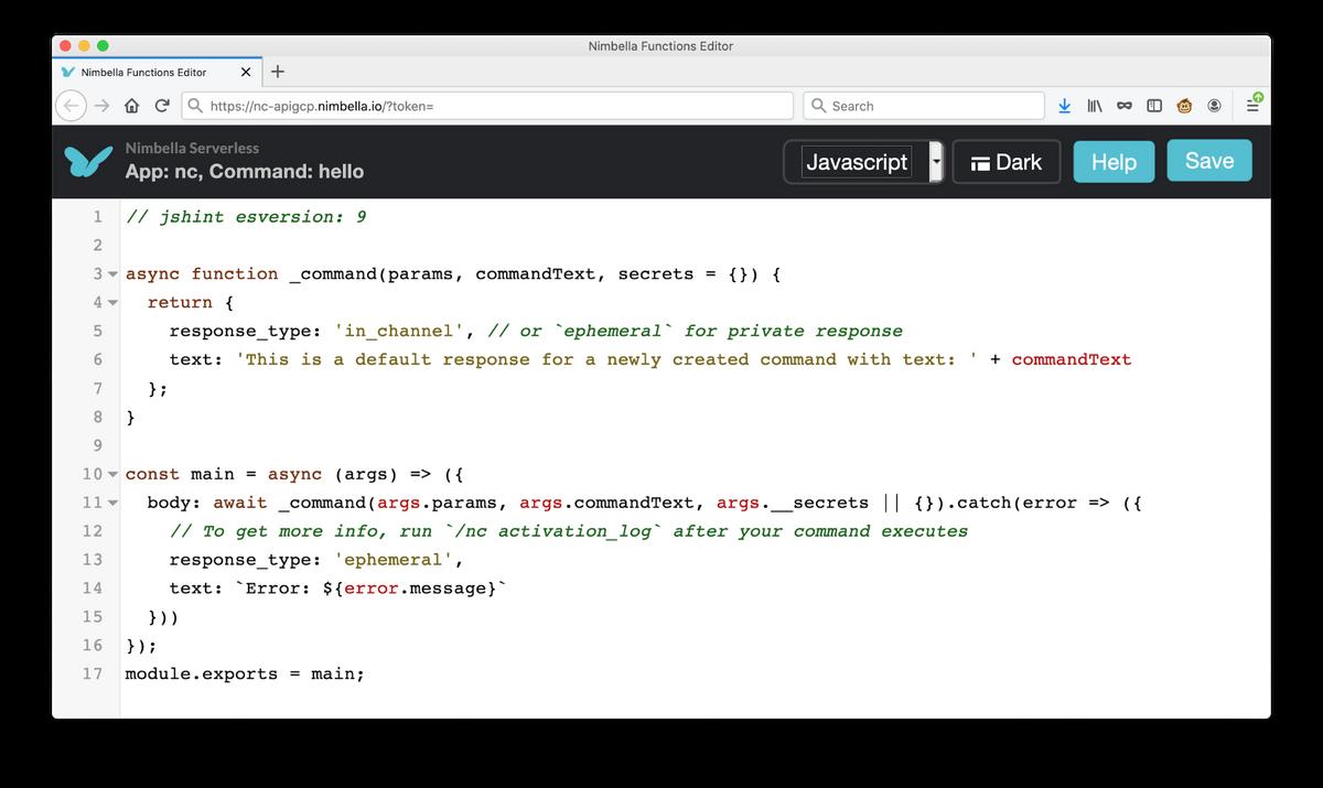 edit slack commands