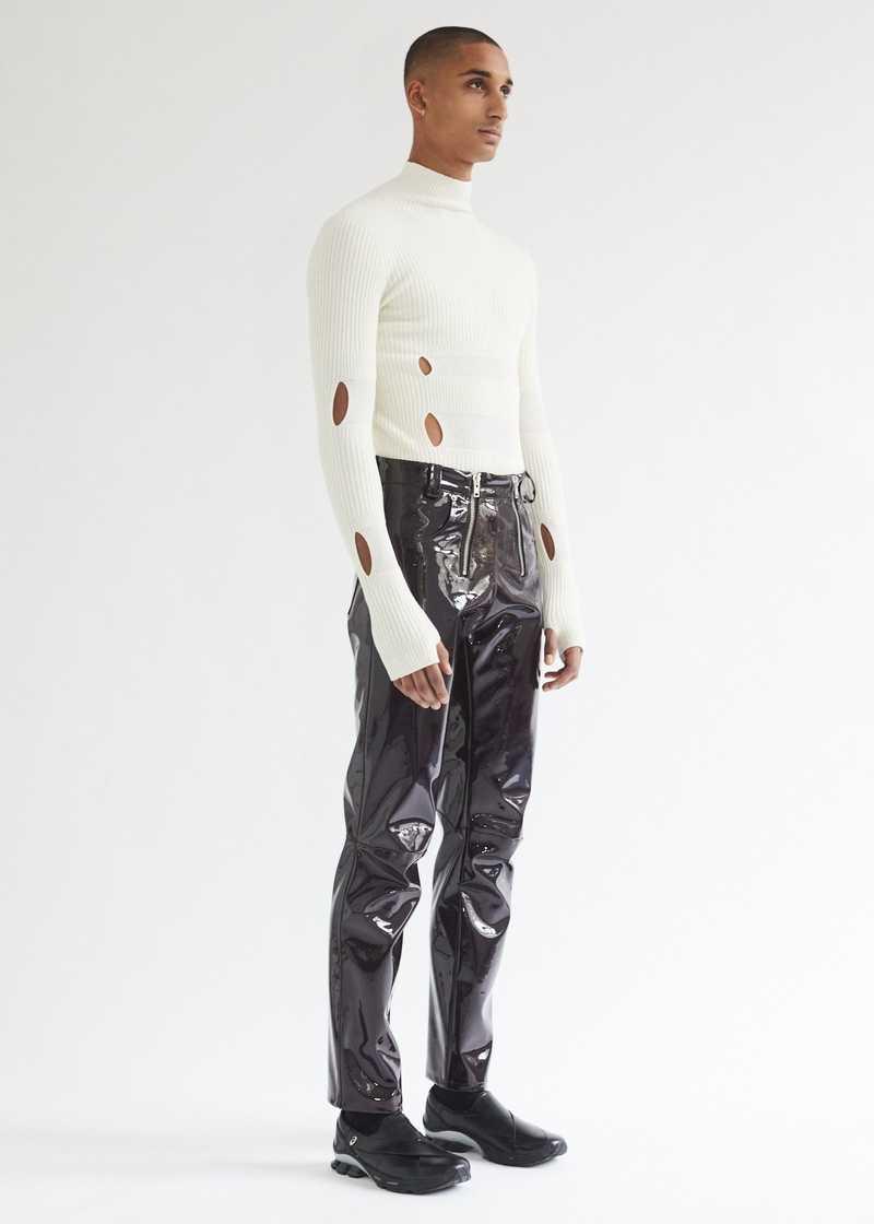 Thor Trousers Burgundy full length