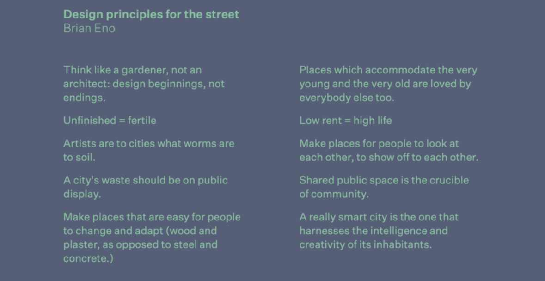 Brian Eno's Design Principles