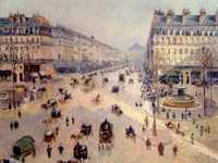 Camille Pissarro's late work of the Avenue de l'Opera shows the result of Haussmann's efforts