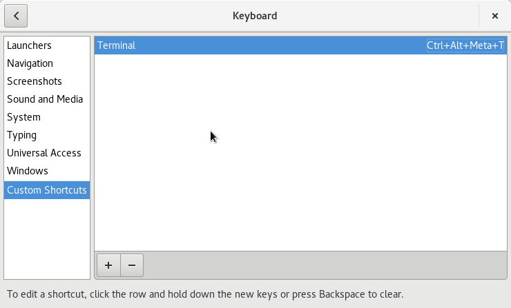 Gán phím tắt Terminal
