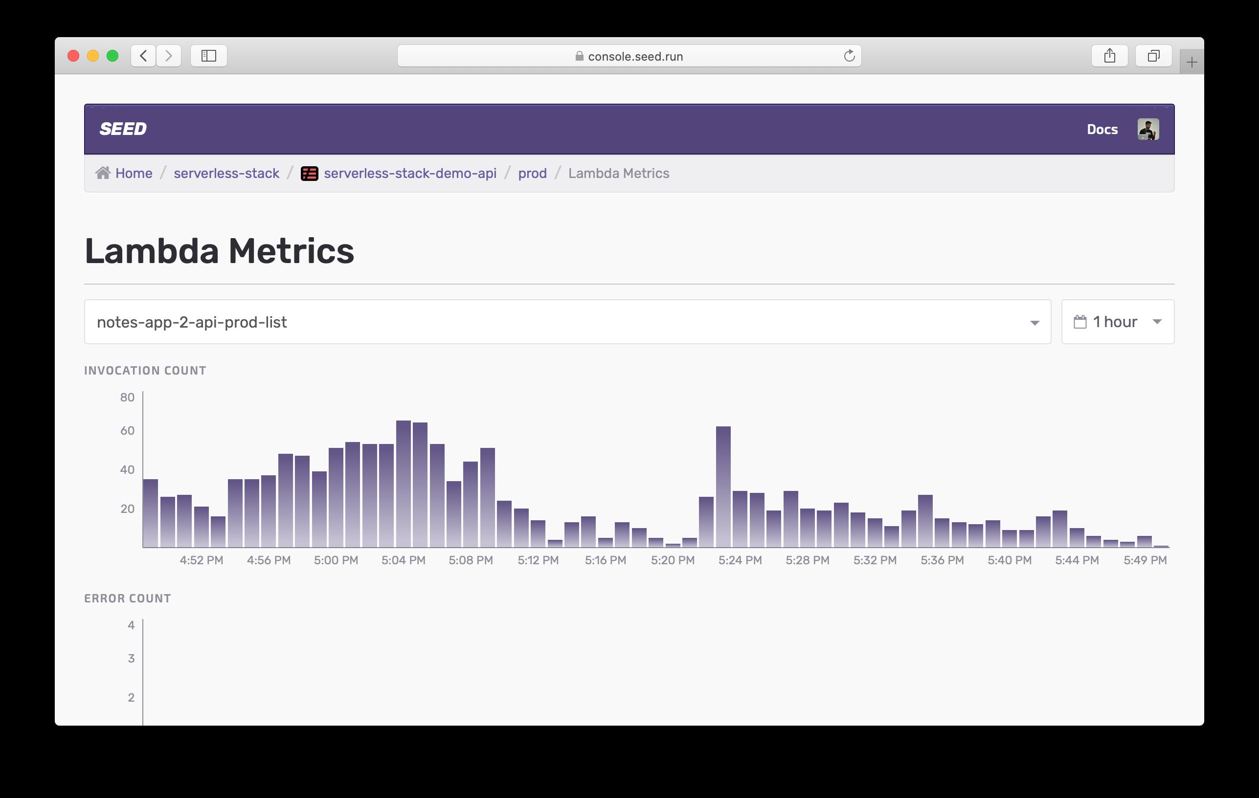 Lambda Metrics Live