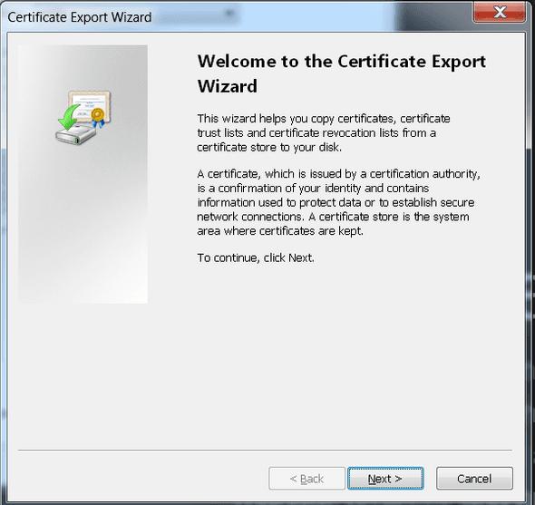 Certification Paths Window