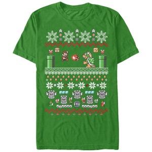 Mario Bit Xmas Stack - T Shirt