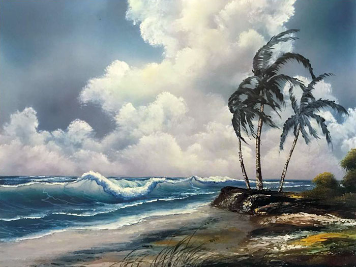 Windy Waves workshop preview painting