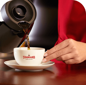 Standard Coffee Service delivers fresh brewed coffee