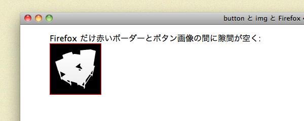 Safari の場合、赤いボーダーと画像との間に隙間はありません。