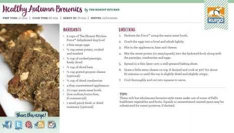 Holiday Recipe: Healthy Autumn Brownies