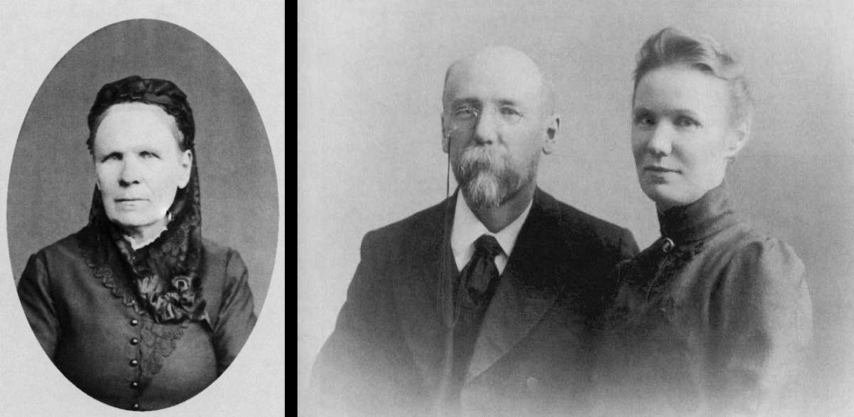 Слева — мать писателя Татьяна Семеновна Тетерникова, 1890-е гг.; справа — Федор Сологуб с сестрой Ольгой, начало 1900-х / fsologub.ru