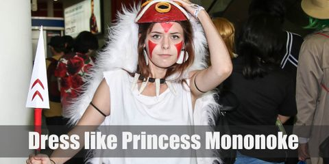 """The costume of Princess Mononoke is a very fairy and sprite-like costume that is wonderful to cosplay."""