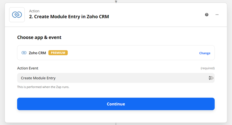 Connect Zapier with Zoho CRM