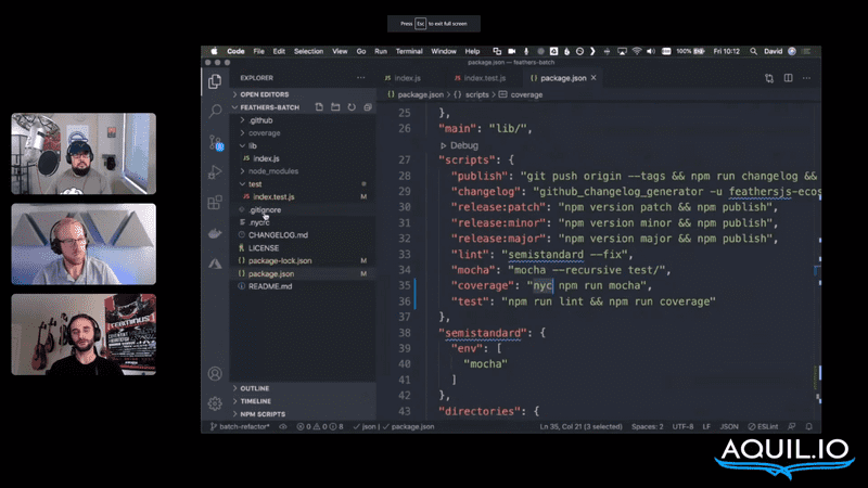 On the fly: Live coding a new version of feathers-batch
