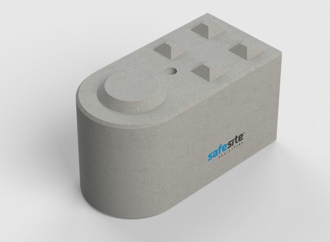 Concrete Lego Block Round End