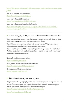 Node js Security Handbook | Sqreen