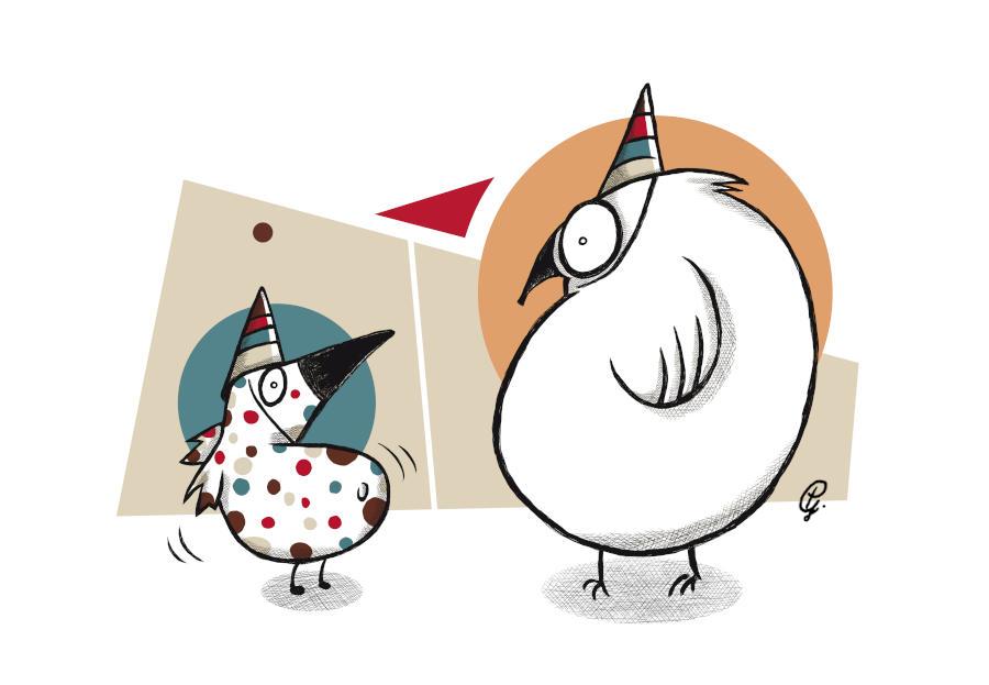 Weird party birds