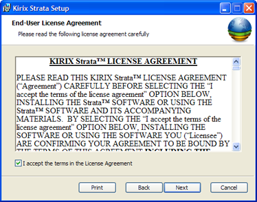 EULA Screen