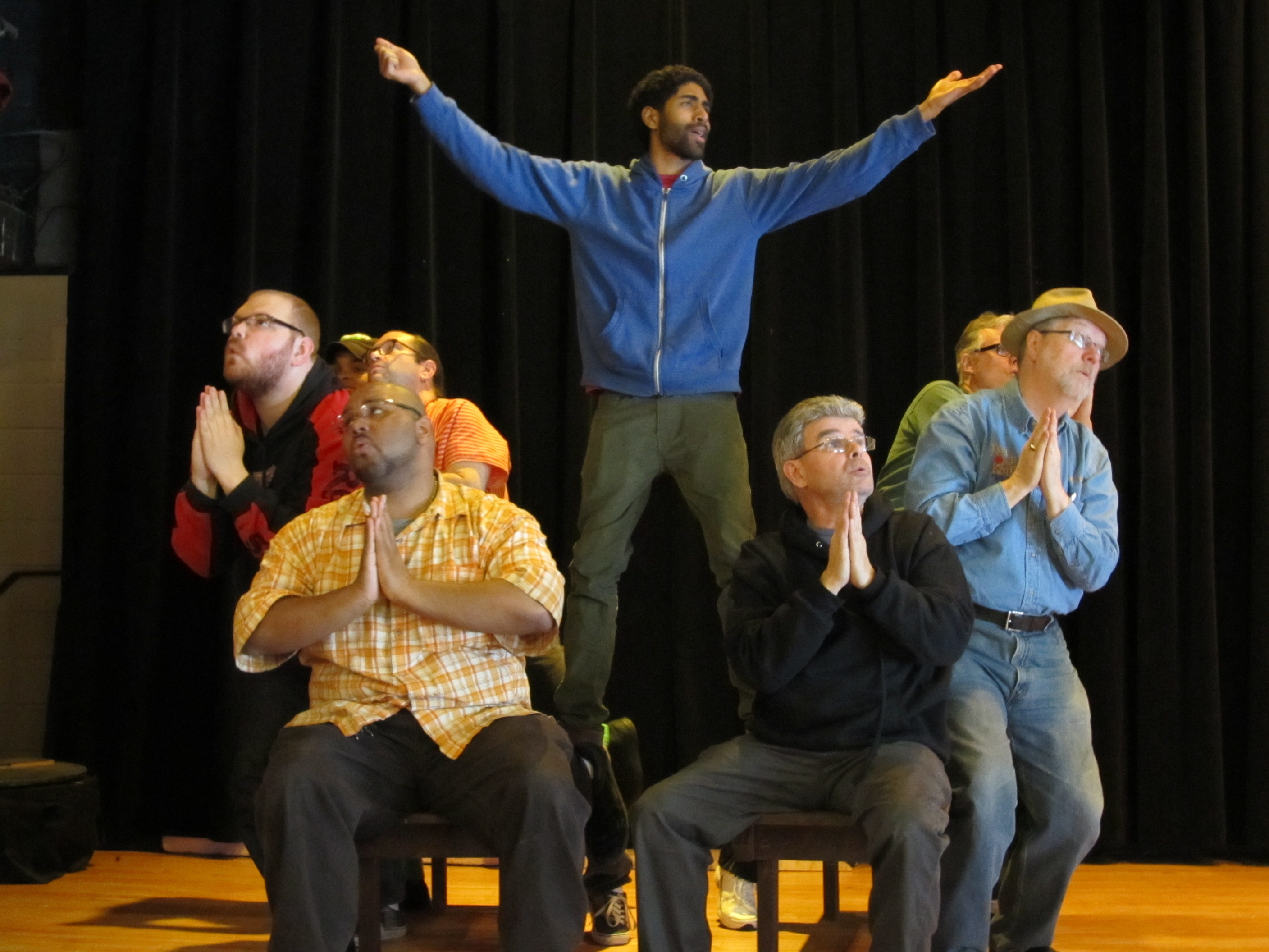 Guys and Dolls rehearsal