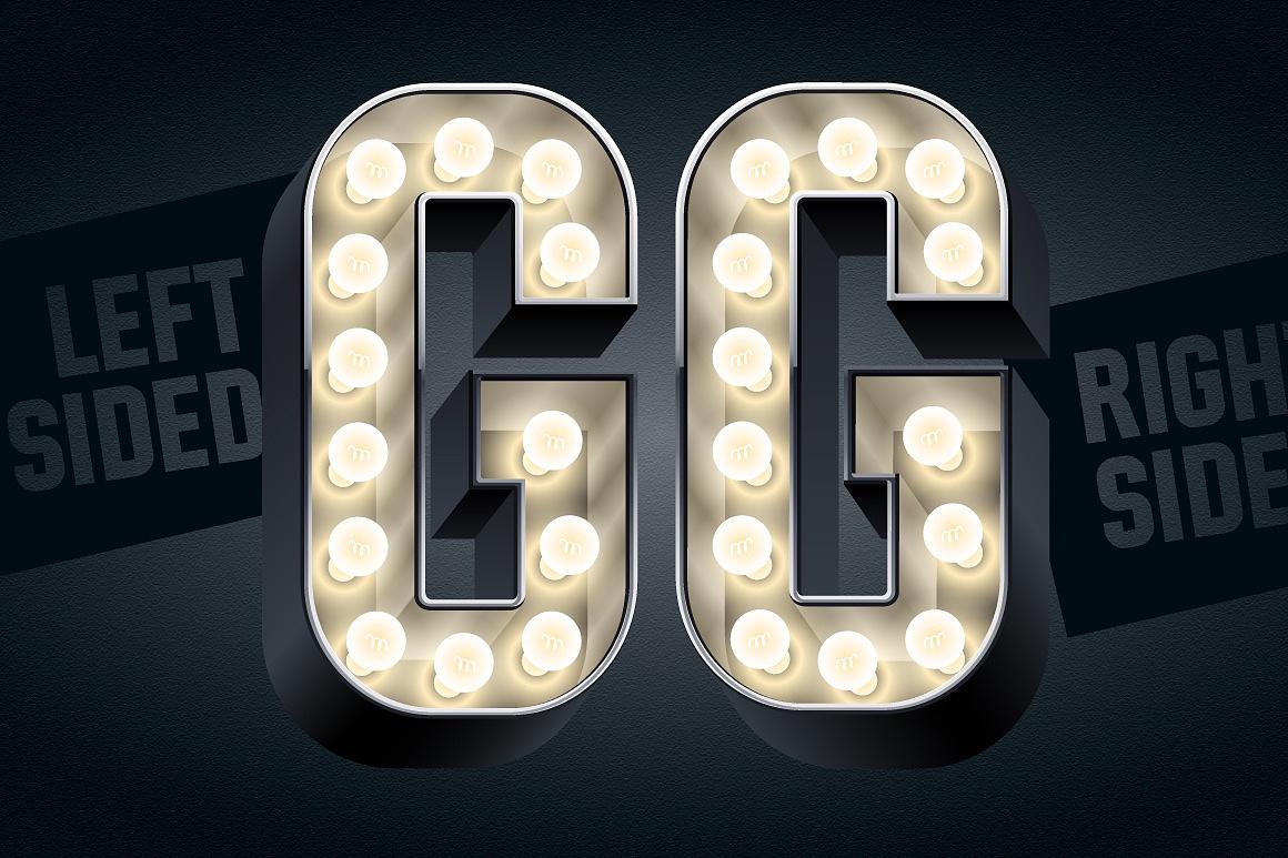 3d Condensed Lampboard alphabet images/3D-condense-black-typefaces-aphabet_5.jpg