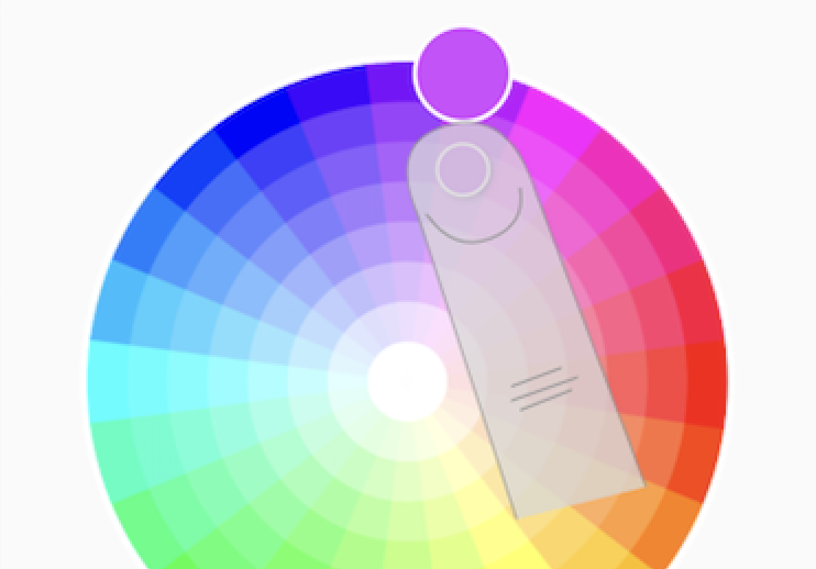 Screenshot of the color wheel.