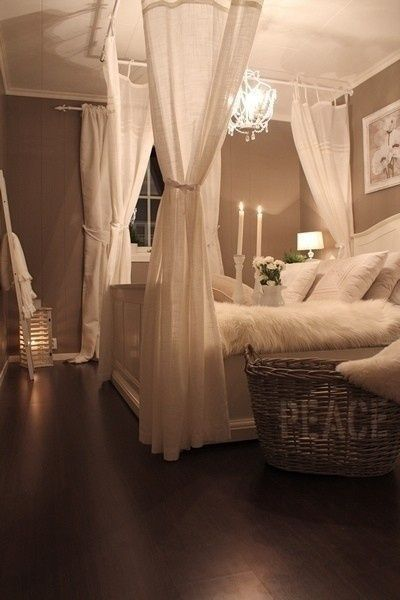 image of romantic DIY canopy bed
